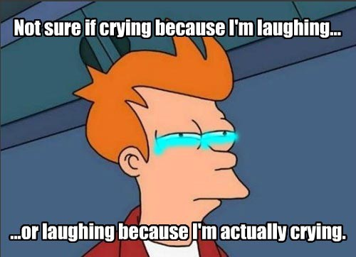 Not Sure if Crying Because Post is Actually Funny...