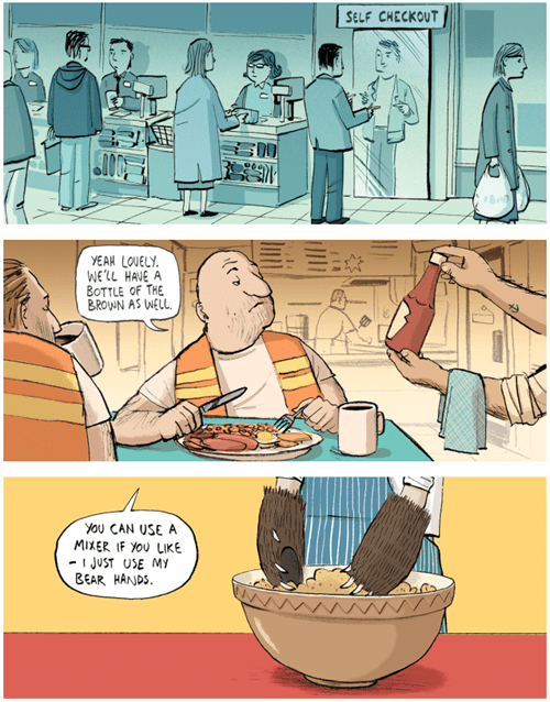 berger and wyse,puns,food,web comics