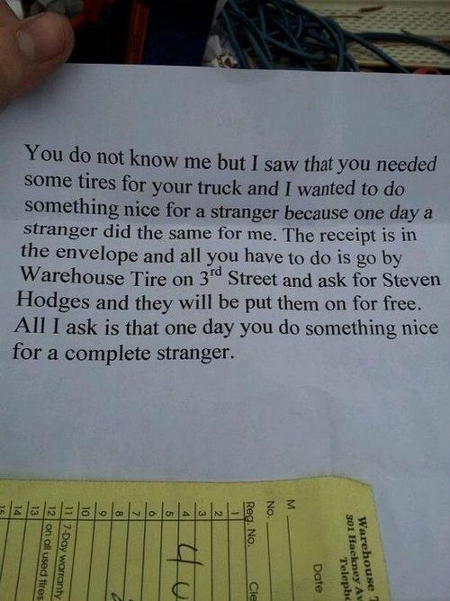 Random Acts Of Kindness,restoring faith in humanity week