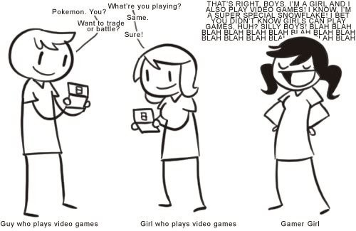 There's a Difference Between Girls Who Play Games and Gamer Girls