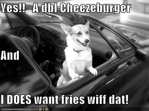 Yes!!   A dbl Cheezeburger And I DOES want fries wiff dat!