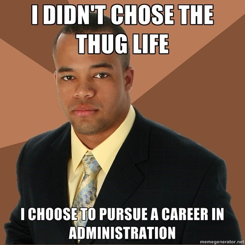 "Successful Black Guy: ""I didn't chose the thug life""."