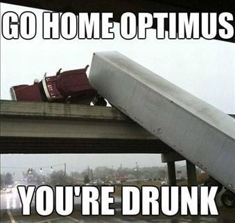 Optimus Had a Little Too Much DEF Last Night