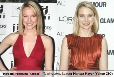 funny,meredith patterson,totally looks liek,marissa mayer