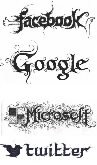 Artsy of the Day: Tech Logos with a Heavy Metal Flare