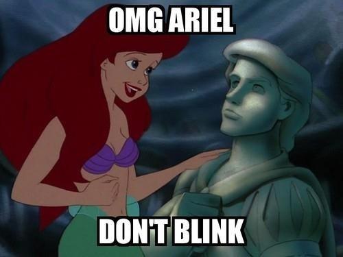 ariel,disney,weeping angels,doctor who,The Little Mermaid
