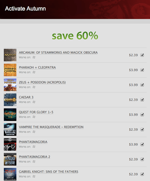 """Activate Autumn"" With GOGs Activision Sale"