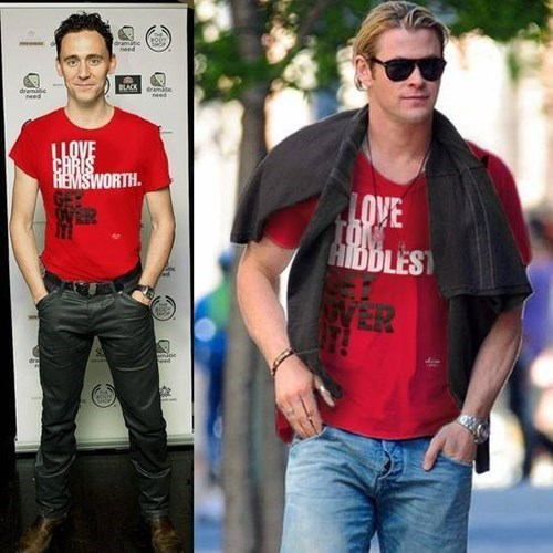 bff,chris hemsworth,tom hiddleston,Thor