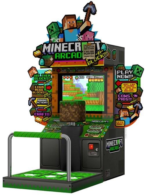 minecraft,arcade machines