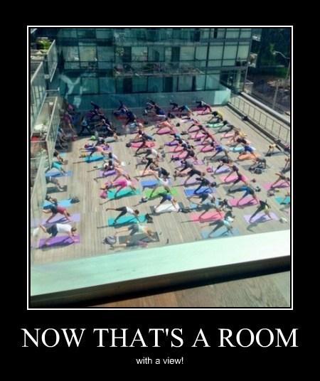 Sexy Ladies,hotel,room,funny,yoga