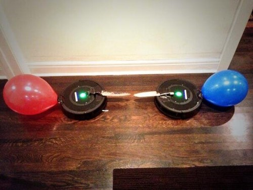 How to Make Those Roombas a Little More Entertaining