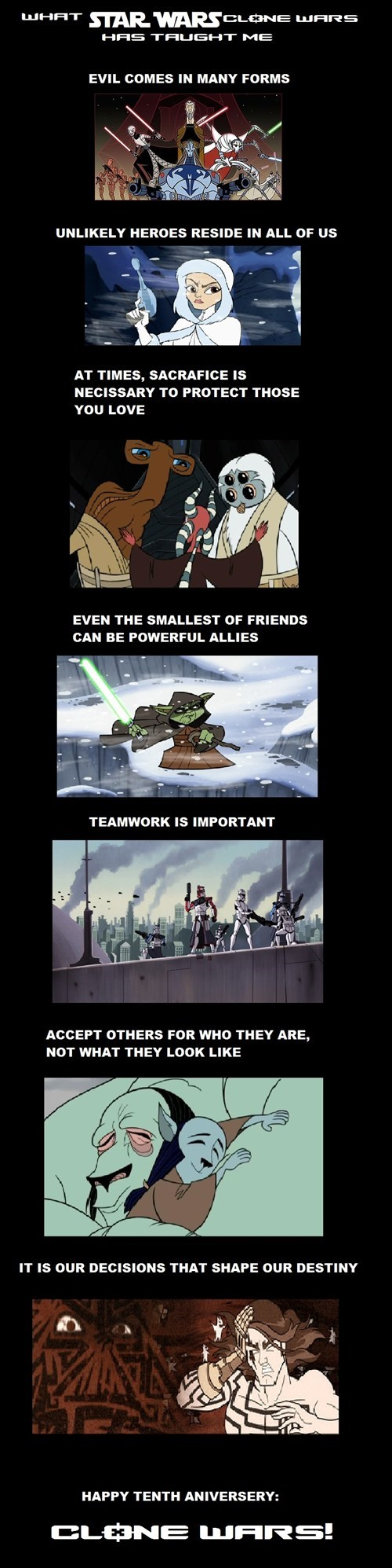 What Star Wars: Clone Wars Has Taught Me