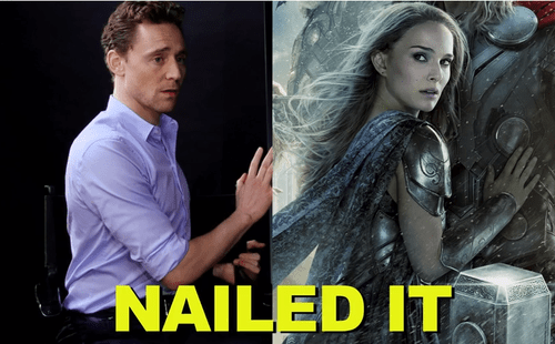 Hiddleston Demonstrates The Superhero Movie Pose