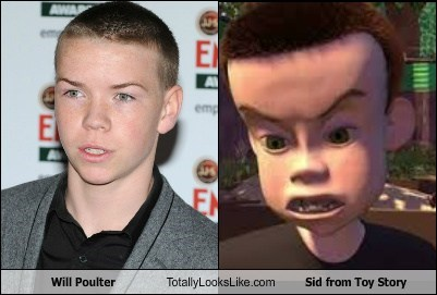 will poulter,toy story,totally looks like,sid
