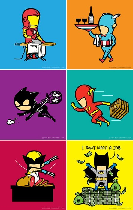 Superhero Part Time Jobs