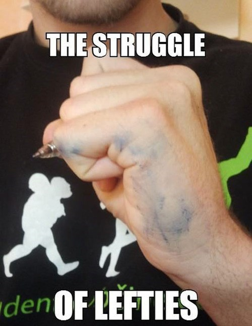 Left Handed People Problems