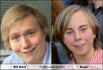 Will Ward Totally Looks Like Beans