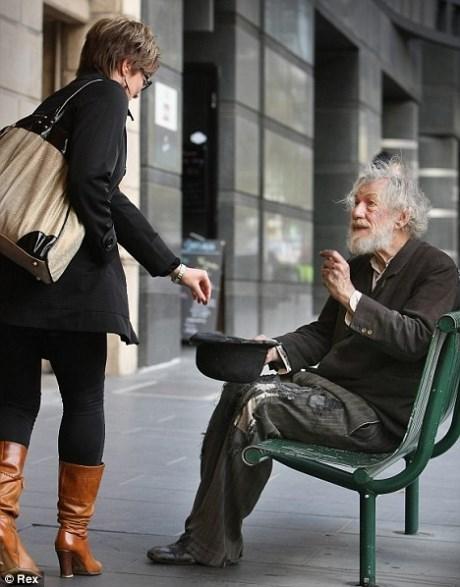 Ian McKellan Mistaken For Homeless During Rehearsal Break