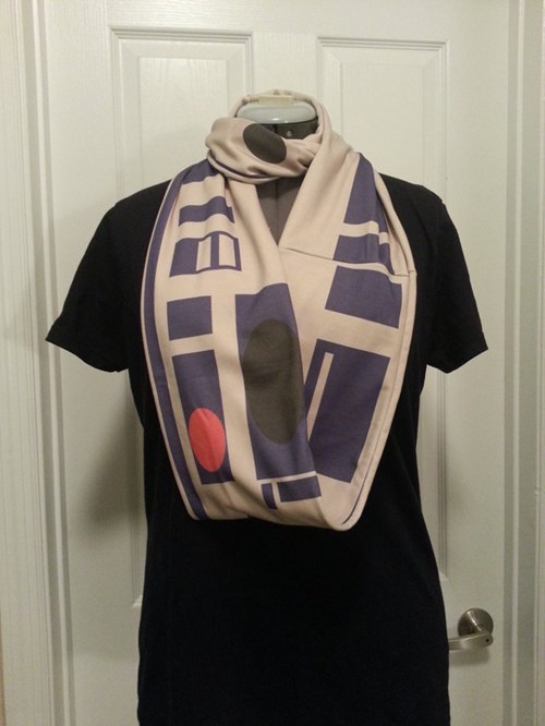 This Scarf is too BLEEP-WEEEOOOO Cool