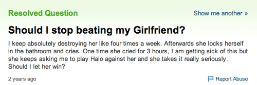 yahoo answers,halo,video games