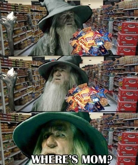 Just Grabbing Snacks at the Store When You Realize...