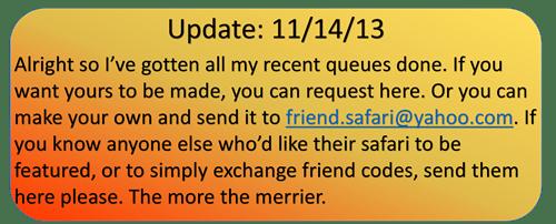 Update: 11/14/13