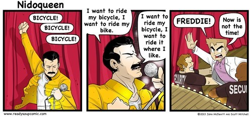 Freddie Wants to Ride His Bike