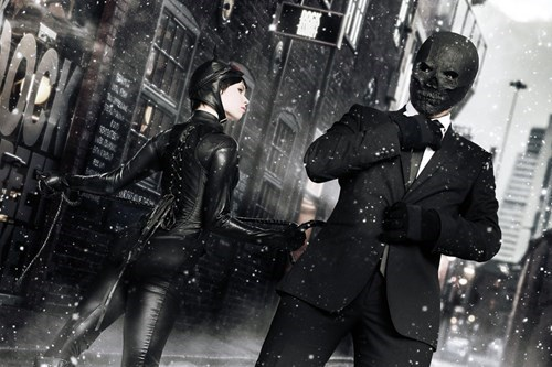 Awesome Catwoman and Black Mask Cosplay
