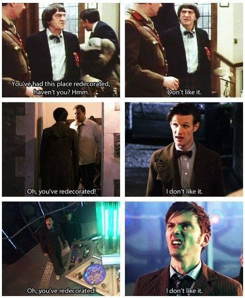 2nd doctor,redecorated,the doctor,10th doctor,11th Doctor
