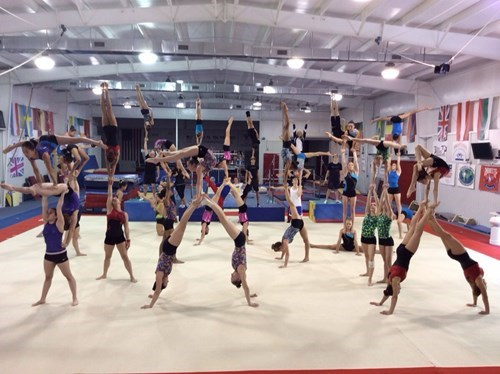 This is What it Looks Like When Olympic Gymnasts Train in One Place