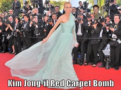 Kim Jong-il Red Carpet Bomb