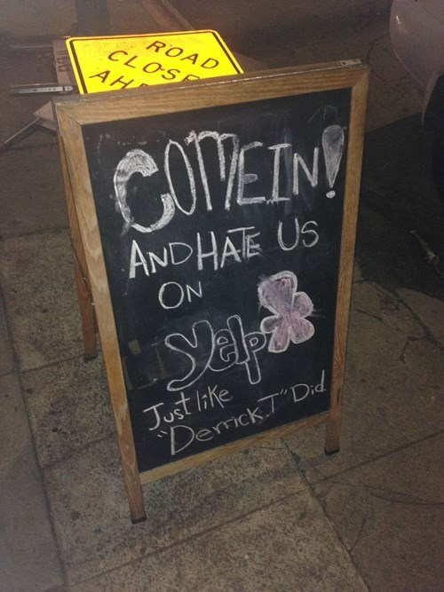 yelp reviews,yelp,restaurant signs