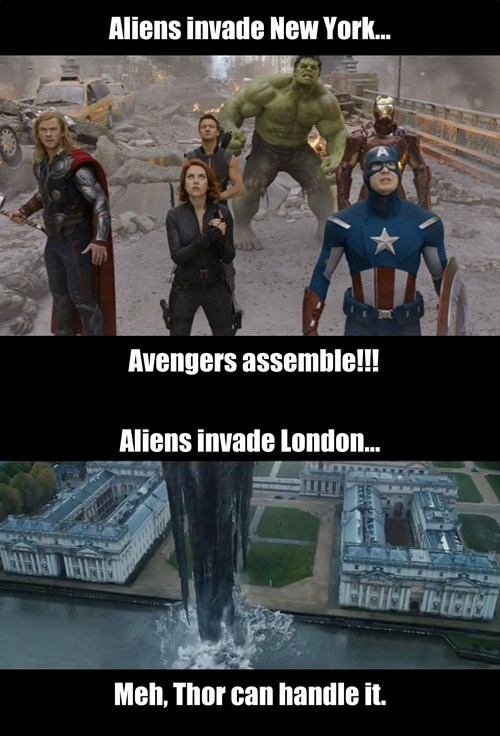 Hulk and Iron Man might have been helpful...