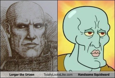 Lorgar the Urizen Totally Looks Like Handsome Squidward