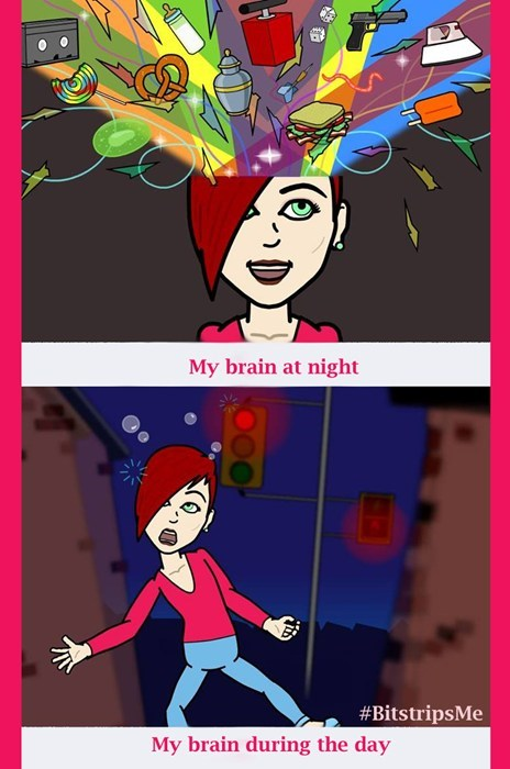 Bitstrips Brain at 3 AM