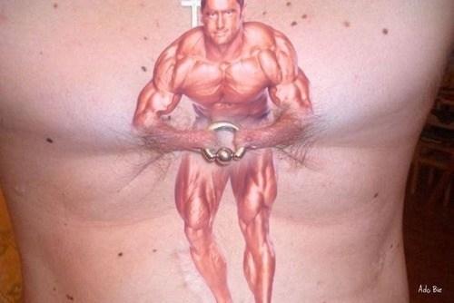 funny,weightlifting,wtf,tattoos