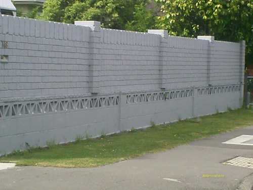 brick wall,there I fixed it