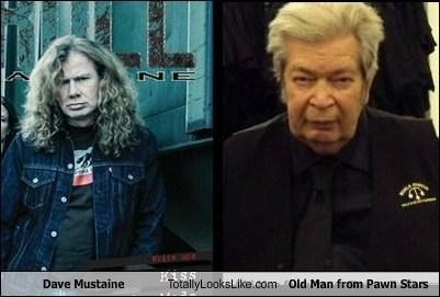 Dave Mustaine of Megadeth totally lokks like The Old Man from PAwn Stars