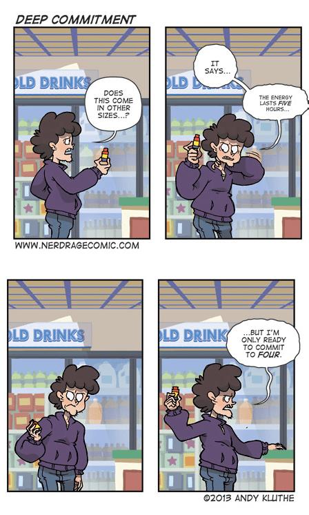 5-hour Energy,commitment,energy drinks,funny,web comics