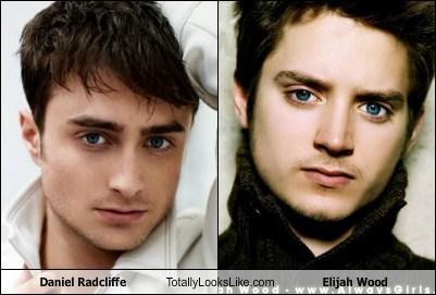 Daniel Radcliffe,totally looks like,elijah wood