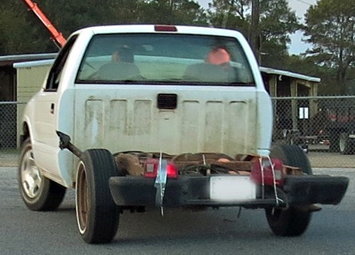 duct tape,zip ties,pick up trucks,tail lights