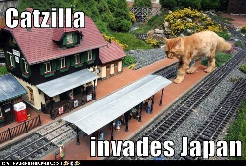 Catzilla  invades Japan