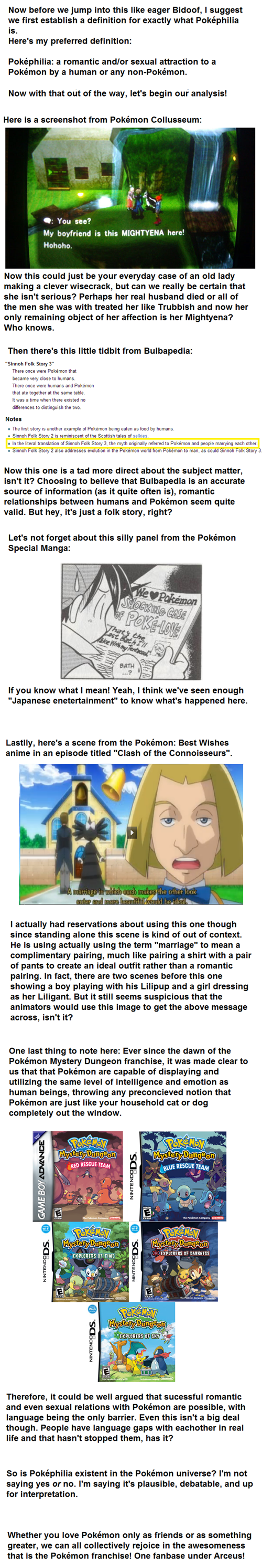 Is Poképhilia Canon?