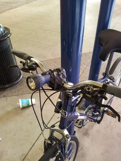 bikes,Electrical tape,flashlight,there I fixed it,g rated