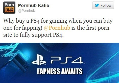 Console Wars Over: PornHub Promises to Fully Support the PS4