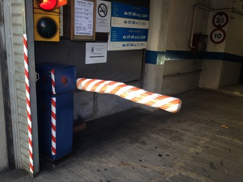 parking garage,duct tape