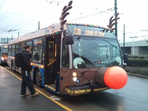 Public Transit is Already Getting into the Holiday Spirit