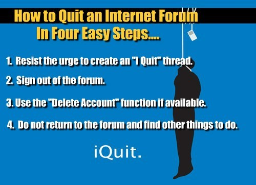 How to call it quits.