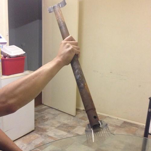 rake,there I fixed it,shovel