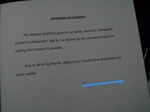 Doing Research Acknowledgements Right